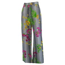 Versace Jeans couture Black and white flower jeans