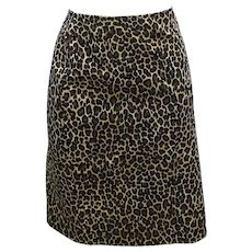 Vintage Moschino cheetah Skirt