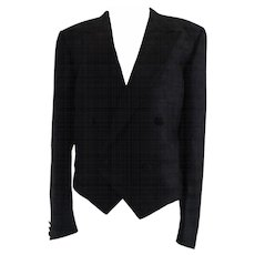 Yves Saint Laurent Silk Black Jacket