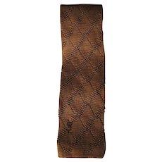 Yves Saint Laurent light brown tie