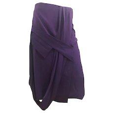 2000s Gianfranco Ferre Purple Skirt
