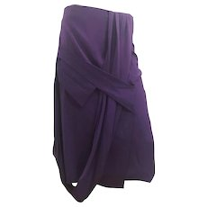 2000s Gianfranco Ferre Purple Skirt