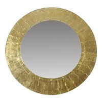 Bold Gilt Modernist Mirror