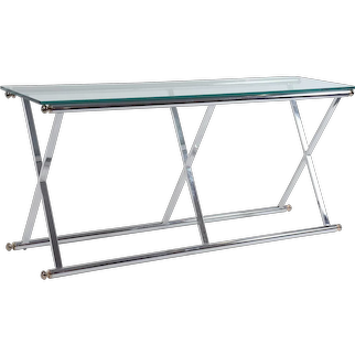 "Chrome and Glass ""X-Base"" Console"