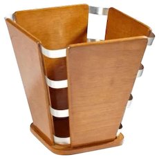 Art Deco Waste Paper Basket by Jacques-Emile Ruhlmann
