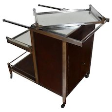 Bar Cart by Jacques Adnet, Art Déco/Modernism, circa 1935
