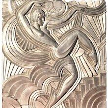 Replica of the 'Folies Bergeres' Pediment by Maurice Picaud Art Deco, circa 1930