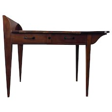 Asymmetric Student Desk by Eugène Printz, Art Déco, France, 1930's
