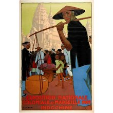 Poster for the National Colonial Exhibition of Marseille by Georges Capon, 1922