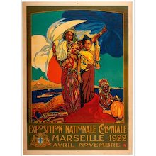 Poster for the National Colonial Exhibition of Marseille, April-November 1922, by David Dellepiane