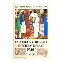 Poster for the International Colonial Exhibition from Paris 1931, by Jean de la Mézière