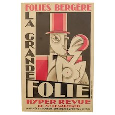 Original and Rare Lithographic Poster by Pico, Art Deco, France, 1920s