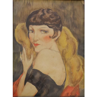 Portrait of Kiki de Montparnasse by Charles Camoin 'Attributed', France, 1920s