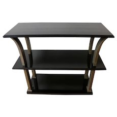 Stunning Metal and Wood Console by Edgar Brandt, Art Deco, France, 1920's
