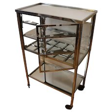Modernist Bar Cart by Jacques Adnet, circa 1930