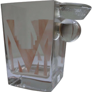 Cubist Art Deco Vase by A Riecke, France, from Restaurant La Coupole, Dated 1937