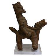 African Terracotta Equestrian Sculpture, Ghana, 14-15th AD Century