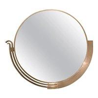 Large Modernist Mirror by Edgar Brandt, Signed, France, Art Deco, Circa 1930