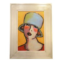 """Daniel Timmers — """"La soeur de Laura"""", oil on canvas"""