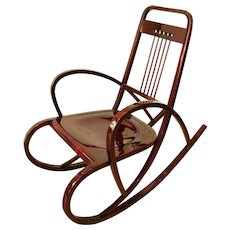 Thonet — Viennese Secession Rocking Chair, circa 1911
