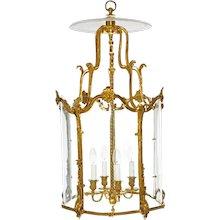 A gilded bronze Louis XV style lantern