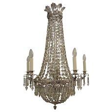 Silvered Bronze Chandelier