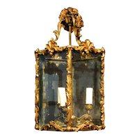 A continental decorative three light lantern