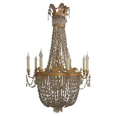 An impressive ormolu Empire style chandelier