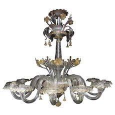 A large, early 20th Century Murano glass chandelier