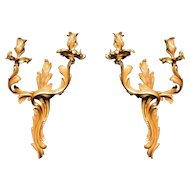 A fine pair of Louis XV style wall lights