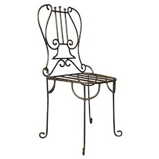 Iron Lyre Back Chair - France, 1950s