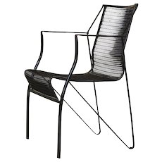 Set of 10 Iron Chairs - France, 1960s