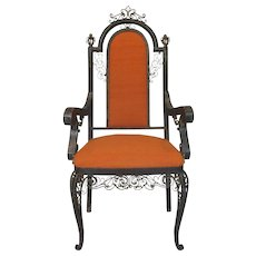 One-of-a-Kind Iron Armchair - France, Circa 1940s