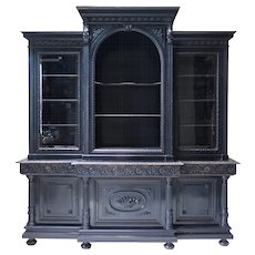 Large Napoleon III Ebonized Bookcase - France, 1800s
