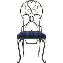 Set of 8 Art Deco Painted Iron Chairs - France, 1940s