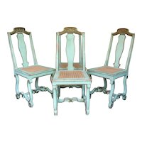 4 Neo-Baroque Chairs - Italy, 19th Century