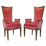 Pair of Louis XVI Style Armchairs - France, 19th Century