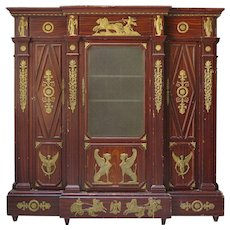 Unusual Empire Style Bookcase - France, 19th Century