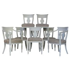Elegant Set of Eight Gustavian Style Chairs - France, Late 19th Century