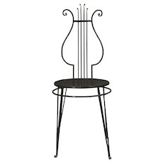 Lyre Back Side Chair - France, 1950s
