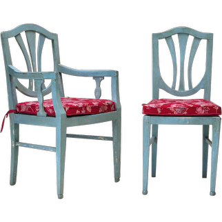 Two Chairs and Two Armchairs - France, circa 1920s