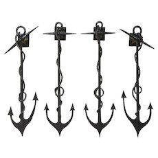 Set of Four French Anchor Sconces