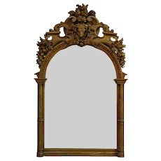 Exceptional Hunting Lodge Mirror - France, 19th Century