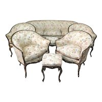 Venetian Seven-Piece Louis XV Style Living Room Set - Italy, 18th Century