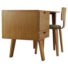 Fifties Ladies Desk in Laminated wood  by W. Lutjens for Den Boer Gouda Holland