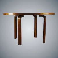 Karelian Birch Large Dining Table by Alvar Aalto