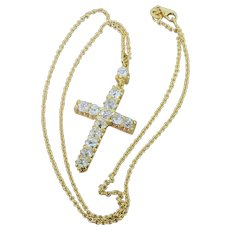 Victorian 3.00 Carat Old Cut Diamond Cross Pendant, circa 1870