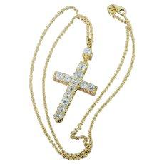 Victorian 3.00 Carat Old Cut Diamond Cross Pendant, circa 1870