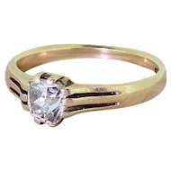 Victorian 0.50 Carat Old Cut Diamond Solitaire Ring, circa 1870