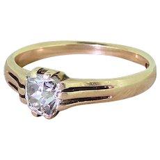 Victorian 0.50 Carat Old Cut Diamond Solitaire Ring, circa 1870